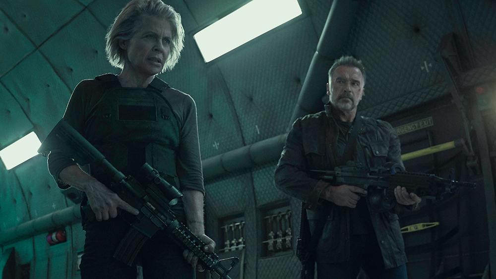Linda Hamilton Arnold Schwarzenegger Terminator Dark Fate 2019