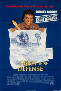 Best Defense 1984 comedy movie poster Dudley Moore Eddie Murphy