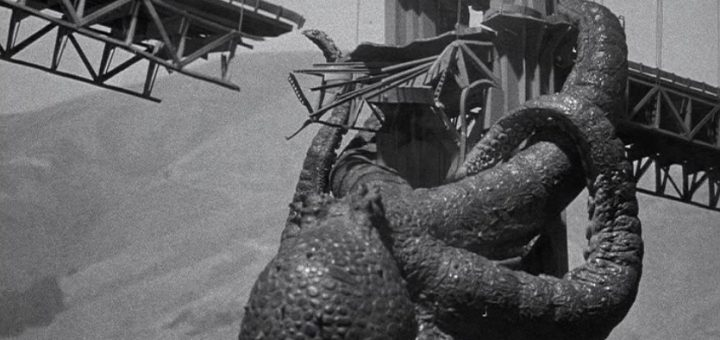 It Came From Beneath Sea 1955 monster movie octopus attack