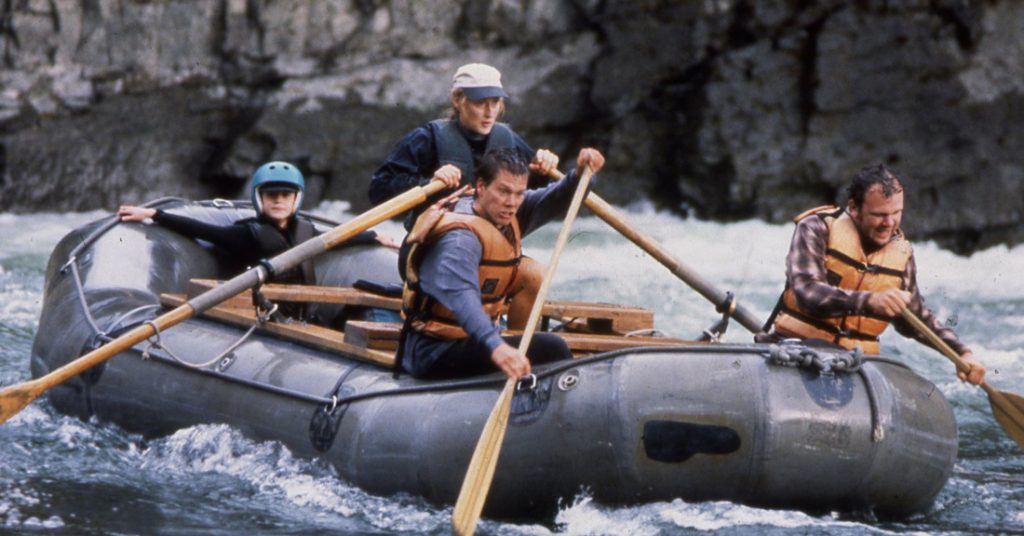 The River Wild 1994 Meryl Streep Kevin Bacon rafting stunt