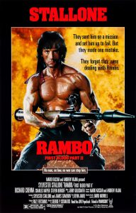 Rambo First Blood Part 2 movie poster 1985