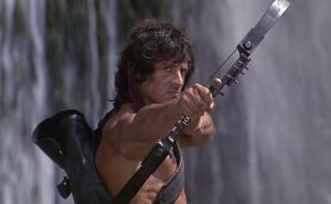 Sylvester Stallone Rambo First Blood Part 2 1985 bow arrow