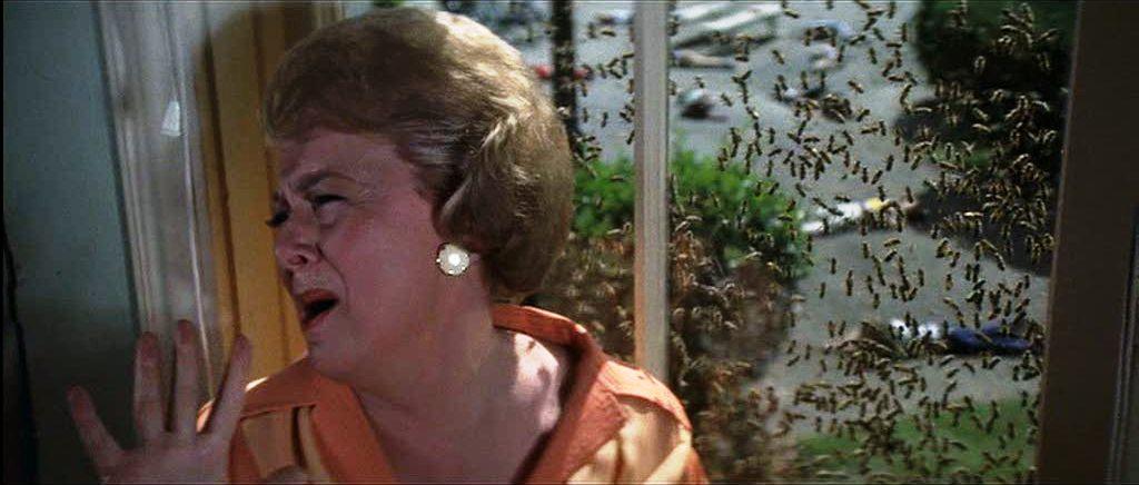 Olivia DeHavilland The Swarm 1978 bee attack