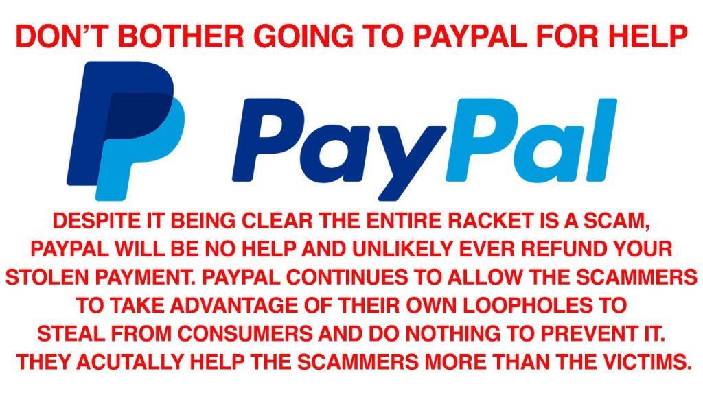 Paypal scam refund Facebook con no help