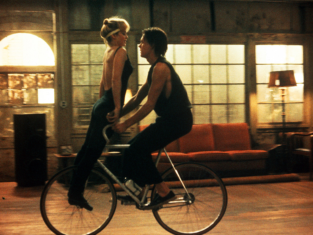 Quicksilver 1986 Kevin Bacon bike dance scene