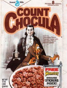 Count Chocula cereal box Bela Lugosi controversy