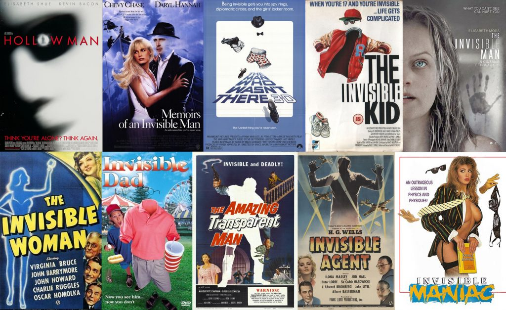 Films movie about invisible man invisibility poster list