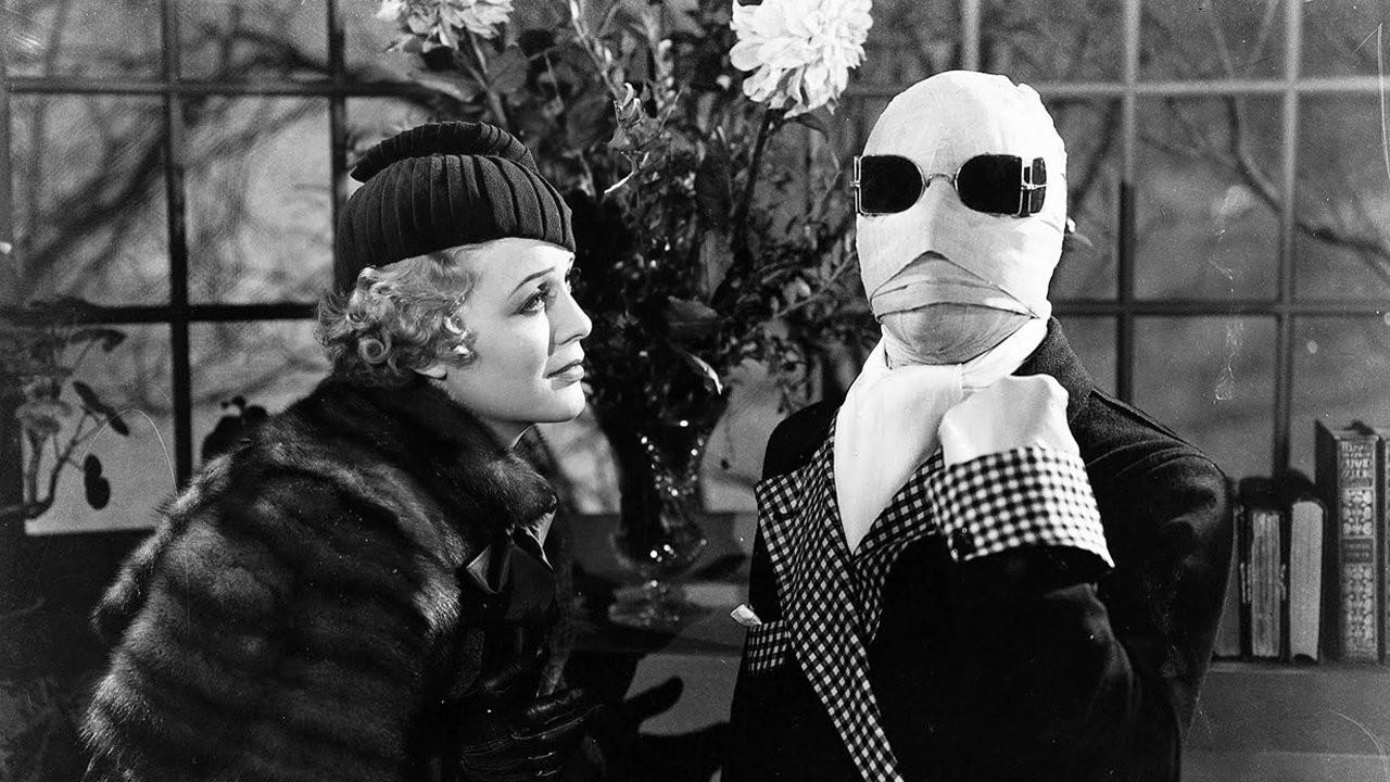 Invisible Man 1933 Universal classic horror movie Claude Rains Gloria Stuart