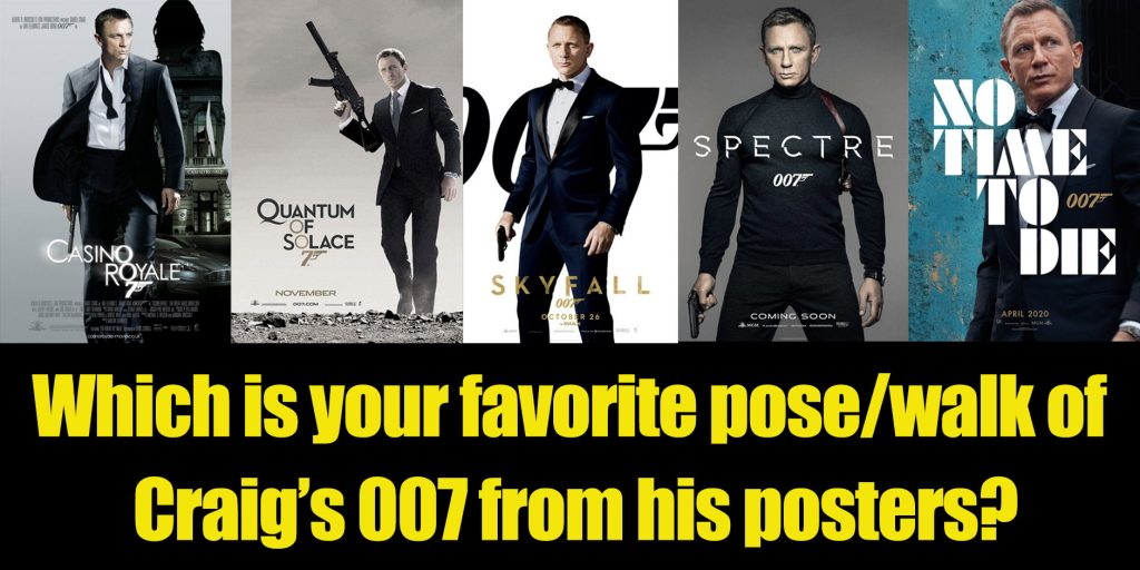 James Bond Daniel Craig Movie Poster Collection