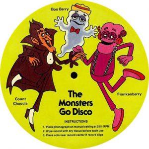 Monster Cereal album 1979 Count Chocula Franken Boo Berry Go Disco