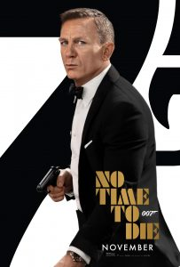 No Time To Die James Bond movie poster Daniel Craig November