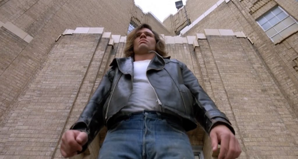 Richard Tyson as Buddy Revell Three OClock High 1987 bully comedy movie