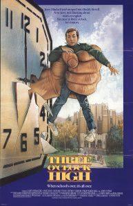 Three O'Clock High 1987 comedy movie poster