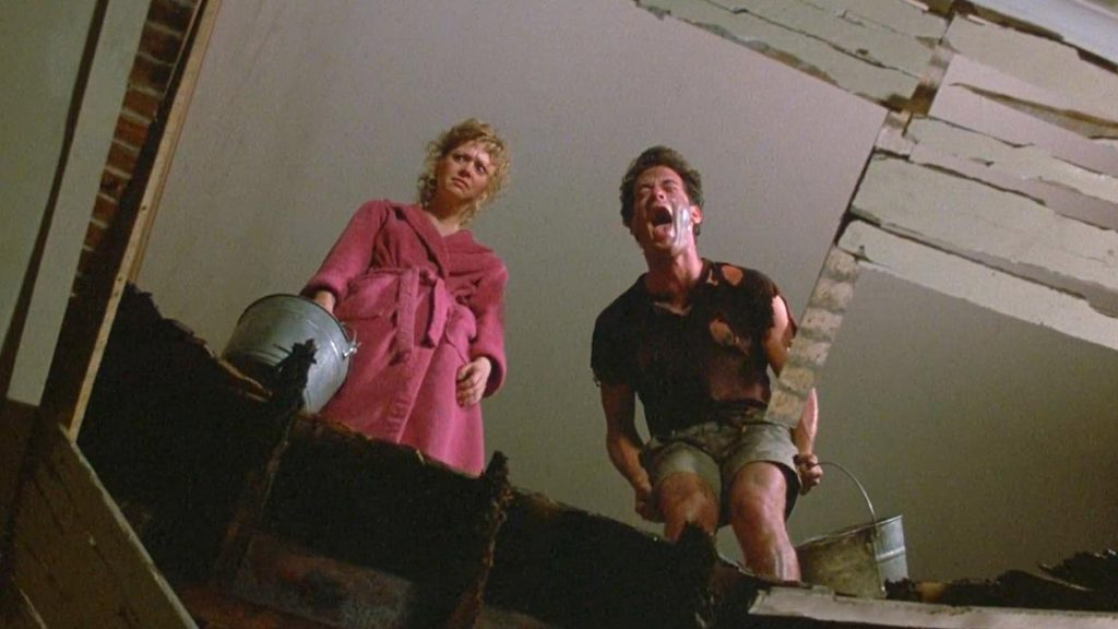 Money Pit 1986 comedy Shelley Long Tom Hanks laughing scene
