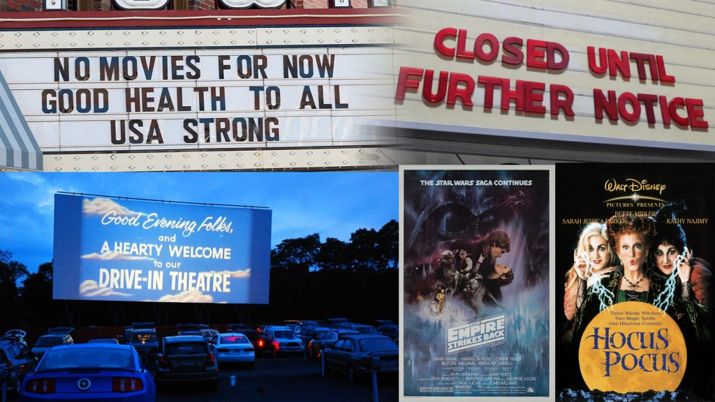 Movie theaters closed drive in box office chart Empire Strikes Back Hocus Pocus