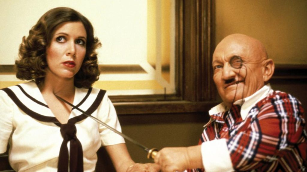 Carrie Fisher Billy Barty Under The Rainbow 1981 comedy