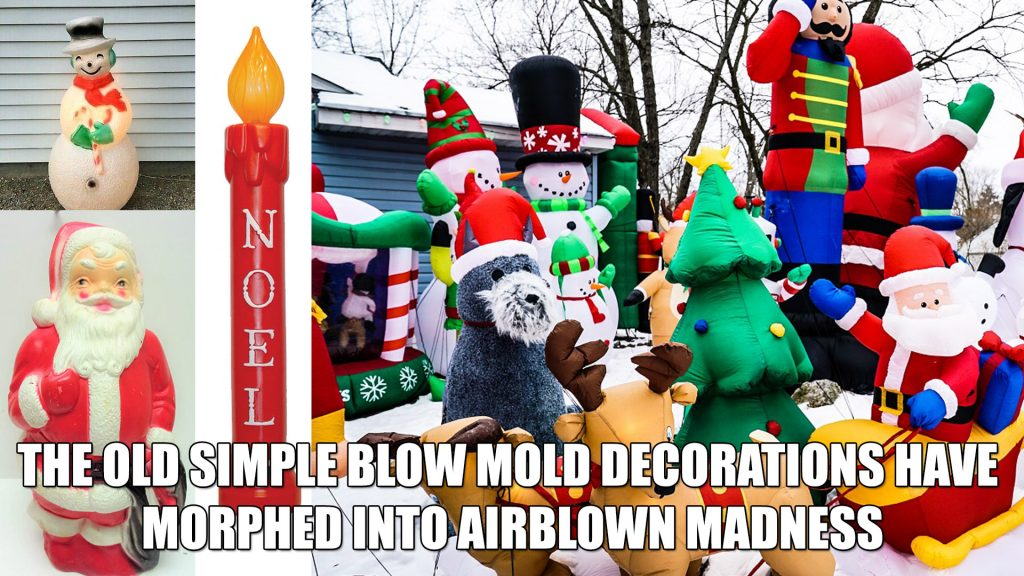 Christmas decoration blow mold vintage airblown yard balloon trend popular