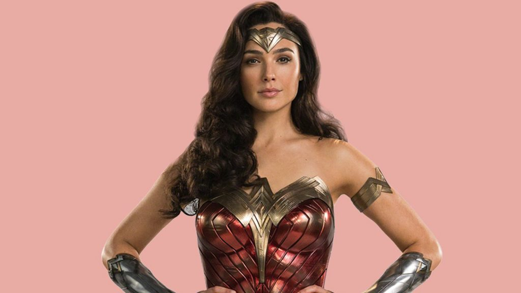 Gal Gadot Wonder Woman 1984 superhero pose costume