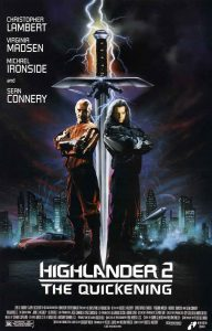 Highlander-2-Quickening-poster-Sean-Connery-Christopher-Lambert