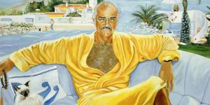 Micheline-Roquebrune-wife-Sean-Connery-art-portrait-painting