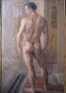 Sean-Connery-nude-model-painting-1951-art