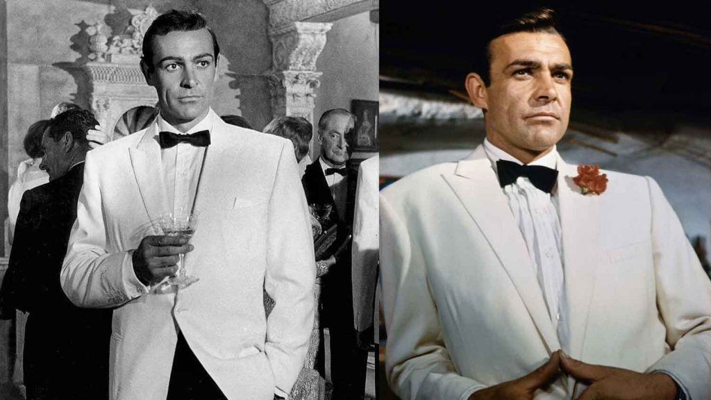 Sean-Connery-white-tuxedo-Woman-of-Straw-Goldfinger