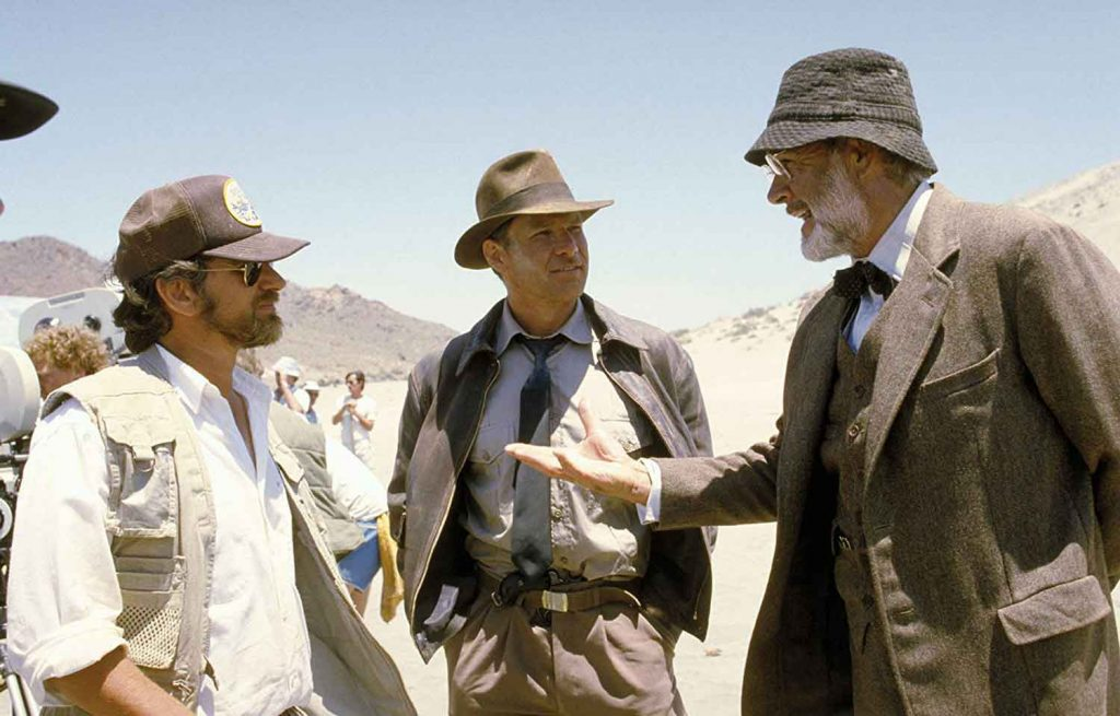 Steven-Spielberg-Harrison-Ford-Sean-Connery-Indiana-Jones-Last-Crusade-1989-filming-behind-scenes