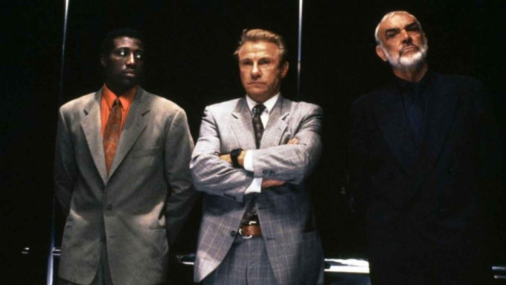 Wesley-Snipes-Harvey-Keitel-Sean-Connery-Rising-Sun-1993