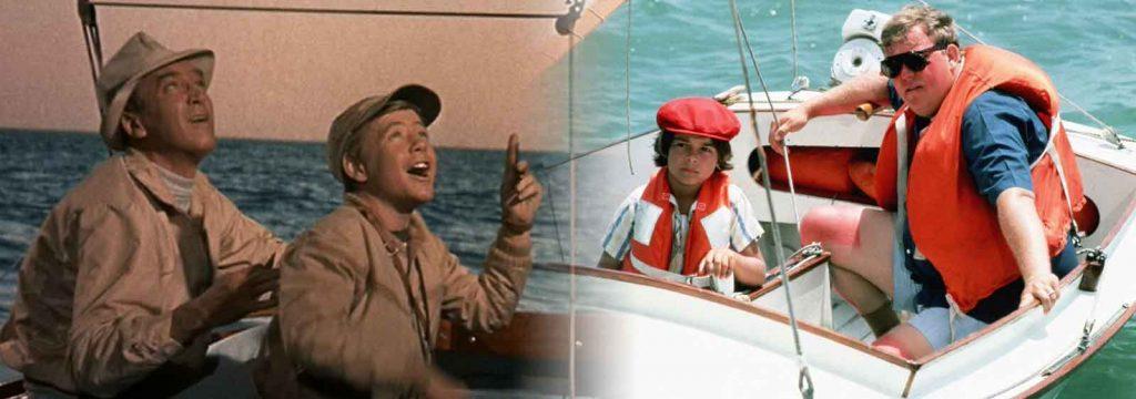 Jimmy-Stewart-John-Candy-Mr.-Hobbs-Takes-Vacation-1962-Summer-Rental-1985-beach-comedy